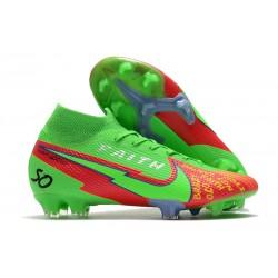 Nike Mercurial Superfly VII Elite DF FG Green Red