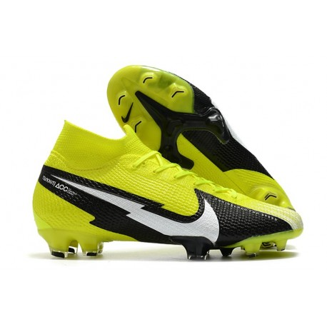 Nike Mercurial Superfly VII Elite DF FG Yellow Black White