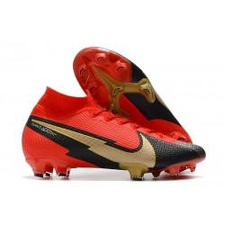 Nike Mercurial Superfly VII Elite DF FG Red Black Gold