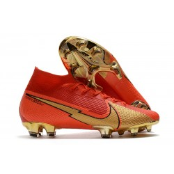 Nike Mercurial Superfly VII Elite DF FG CR100 Red Gold