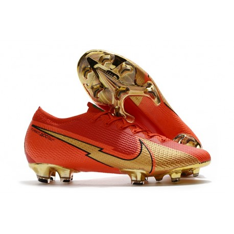Nike 2020 Mercurial Vapor 13 Elite FG Ronaldo CR100 Red Golden