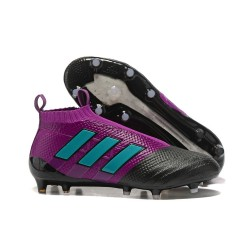 adidas ACE 17+ Purecontrol FG Soccer Cleats - Purple Black Blue