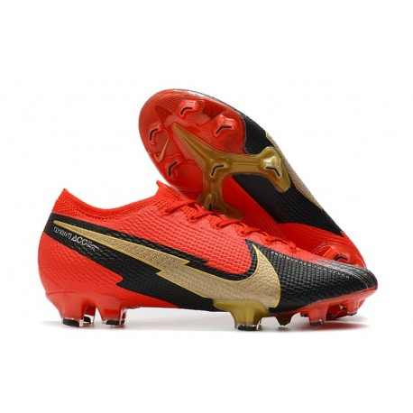 Nike 2021 Mercurial Vapor 13 Elite FG Crimson Black Gold