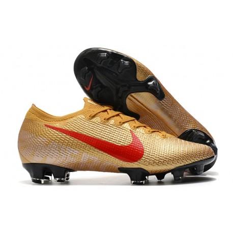 Nike 2021 Mercurial Vapor 13 Elite FG Gold Red