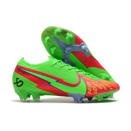 Nike 2021 Mercurial Vapor 13 Elite FG Green Red