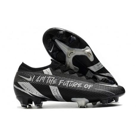 Nike 2021 Mercurial Vapor 13 Elite FG Black Silver