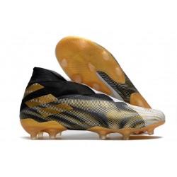New adidas Nemeziz 19+ FG White Gold Metallic Core Black