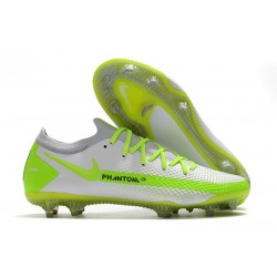 Nike Phantom GT Elite FG Firm-Ground Cleat White Green
