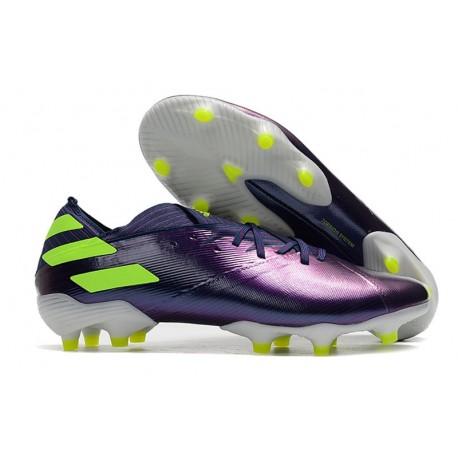 adidas Nemeziz 19.1 FG Firm Ground Cleat Indigo Green Glory Purple