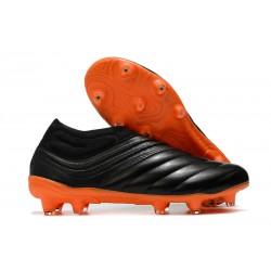 adidas Copa 20+ FG Leather Boots Black Orange