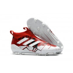 adidas ACE 17+ Purecontrol FG Soccer Cleats - Red White