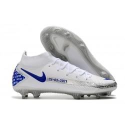 Nike Phantom GT Elite DF FG Firm Ground White Blue