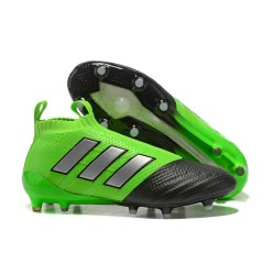 adidas ACE 17+ Purecontrol FG Soccer Cleats - Green Black Silver