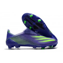 adidas X Ghosted FG + Boots Purple Green
