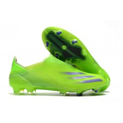 adidas X Ghosted FG Boots Signal Green Energy Ink Semi Solar Slime