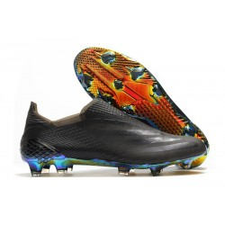 adidas X Ghosted + FG Boots Core Black Blue