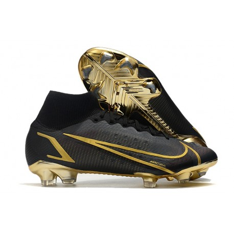Nike Mercurial Superfly VIII Elite FG Cleats Black Gold