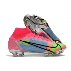 Nike Mercurial Superfly VIII Elite FG Cleats Pink Blast Blue Green