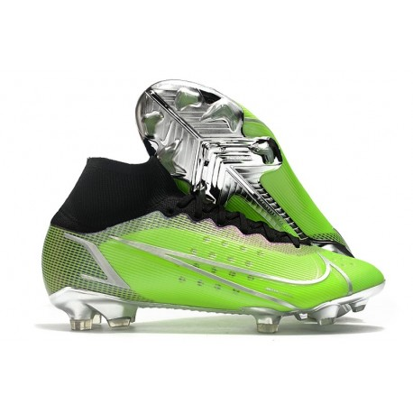 Top Nike Mercurial Superfly 8 Elite FG Green Silver