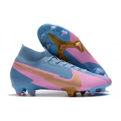 Nike Mercurial Superfly V FG Soccer Cleats - Blue Pink