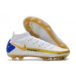 Nike Phantom GT Elite DF FG Firm Ground White Golden Blue