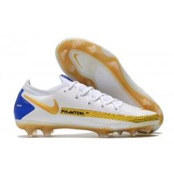 Nike New Phantom GT Elite FG White Gold Blue