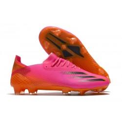 adidas Men's X Ghosted.1 FG Superspectral - Shock Pink Black Orange