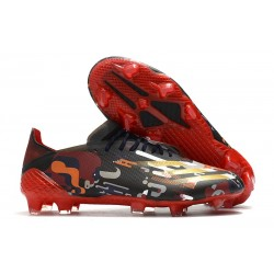 adidas Men's X Ghosted.1 FG Black Red Gold