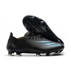 adidas Men's X Ghosted.1 FG Black Cyan