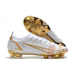 Nike 2021 Mercurial Vapor XIV Elite FG White Golden
