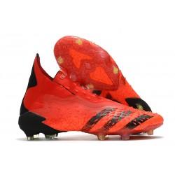 adidas Predator Freak + FG Firm Ground Soccer Cleat Red Core Black Solar Red