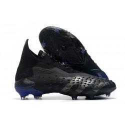 adidas Predator Freak + FG Firm Ground Soccer Cleat Escapelight - Core Black Iron Metal
