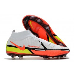Nike Phantom GT 2 Elite Dynamic Fit FG White Bright Crimson Volt