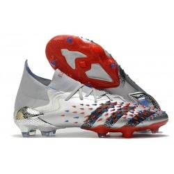 adidas Predator Freak.1 FG Shoes Silver Metallic Core Black Scarlet