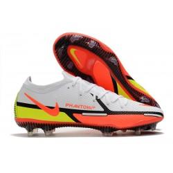Nike Phantom GT II Elite FG Boots White Bright Crimson Volt