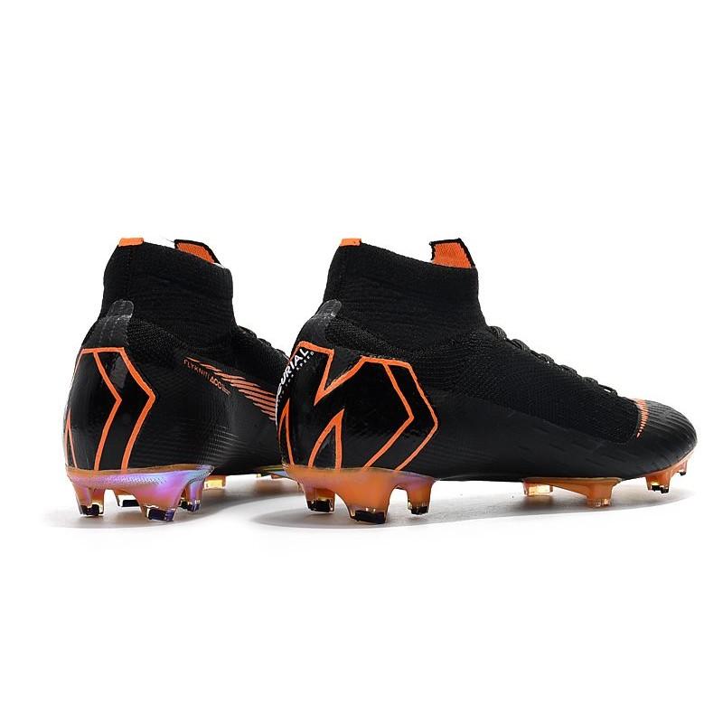 Desacuerdo Pegajoso represa  Nike Mercurial Superfly VI Elite FG Football Boots - Black Orange