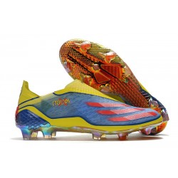 adidas X Ghosted + FG Boots X-Men Cyclops - Blue /Vivid Red/ Bright Yellow LIMITED EDITION